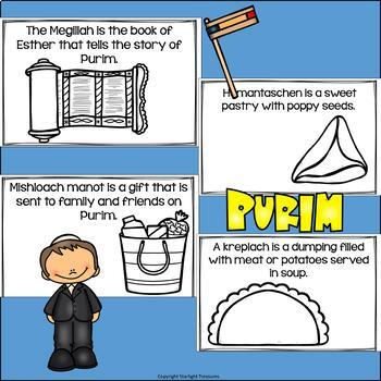 Purim Mini Book for Early Readers