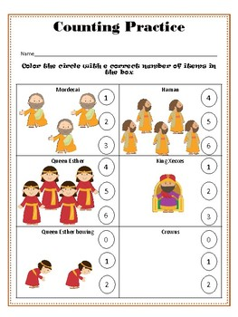 Purim Preschool Color Pack