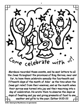 Purim *The Feast of Lots* Bible Study and Coloring Book