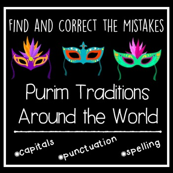 Purim Traditions Around the World: Find and correct the mistakes