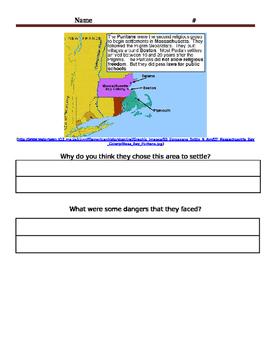 Puritan/Pilgrim Maps and Questions