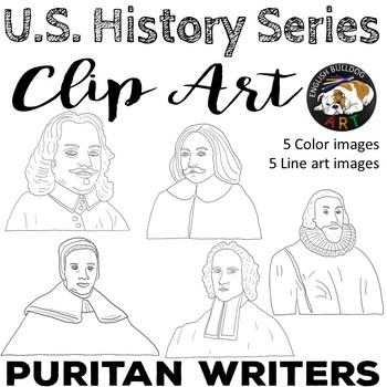 Puritan Writers Clip Art Set