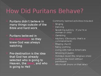Puritanism Notes