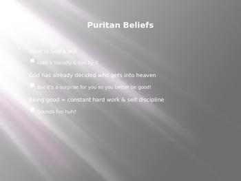 Puritanism Powerpoint