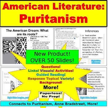 AP Language and Literature: Puritanism, Edwards, Bradstreet, Questions, MORE!