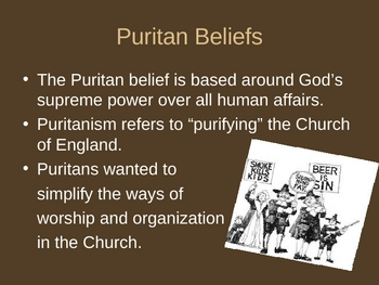Puritanism-life and society