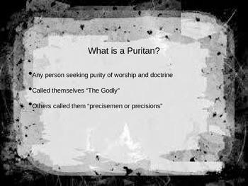 Puritans PowerPoint