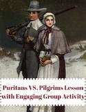 "Pilgrims VS. Puritans Lesson with Engaging ""Survivor"" Game"