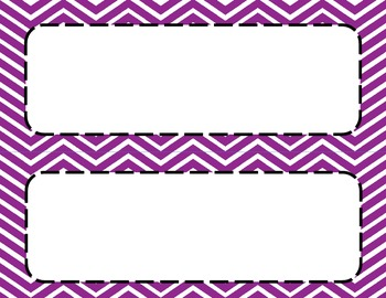 Purple 2 Chevron Classroom Labels