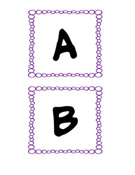 Purple ABC tags