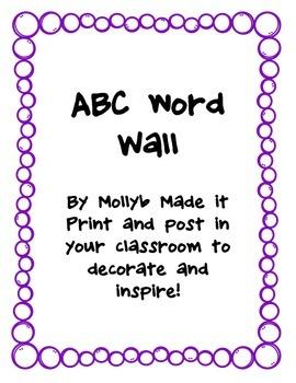 Purple ABC tags