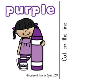 Purple Adapted Book for Preschool, Pre-K and Special Needs