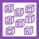 Purple Alphabet Blocks Clipart Clip Art