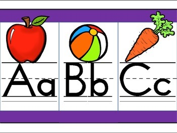 Purple Alphabet Line