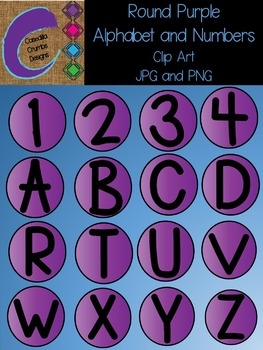 Purple Alphabet and Number Clip Art Images