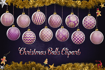 Purple And Gold Christmas Balls, Purple Christmas Tree Decoration