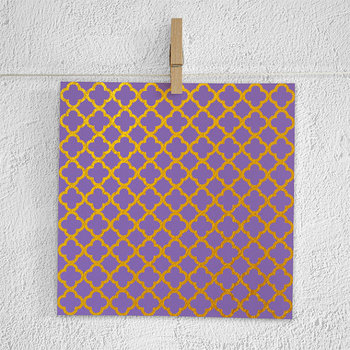 Purple And Gold Paper