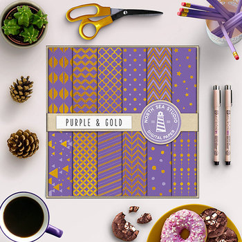 Purple And Gold Paper, Gold Foil Patterns, Purple Backgrounds, Elegant Papers
