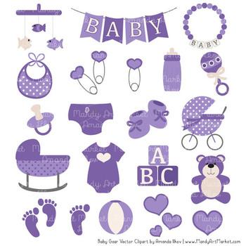 Baby purple. Oh clipart vectors set