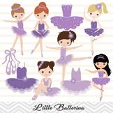 Purple Ballerina Digital Clip Art Purple Ballet Girl Clip Art Little Girl 00180