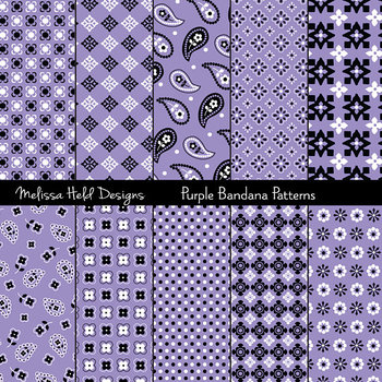 Bandana Patterns: Purple
