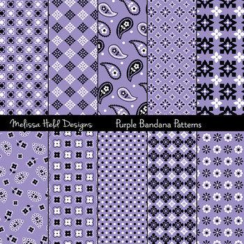 Bandana Patterns: Purple