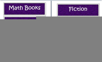 Purple/Black/White Classroom Labels