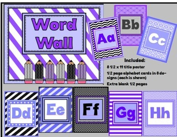 Purple, Black, and Gray Classroom Resources for Back to School
