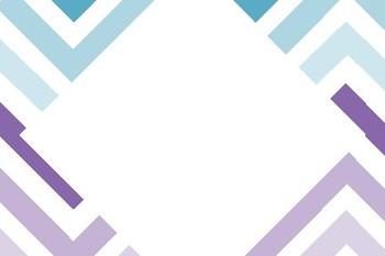 Purple Blue Strip Blank Labels Flashcards