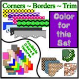 Purple Borders Trim Corners * Create Your Own Dream Classr