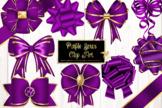 Purple Bows Clipart