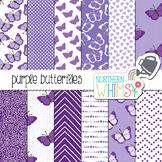 Purple Butterfly Digital Paper