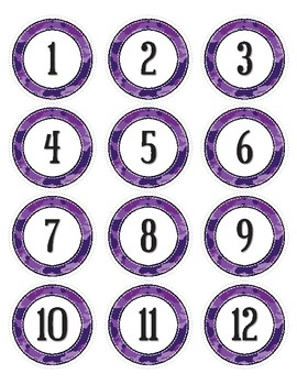 Purple Camouflage Dot Labels