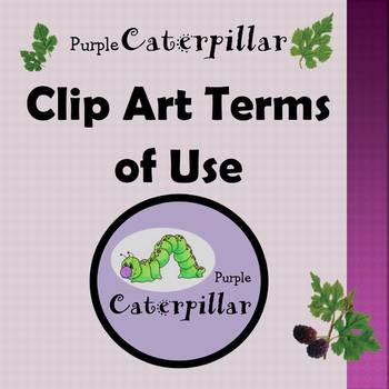 Purple Caterpillar Clip Art Terms of Use