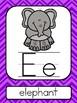 Purple Chevron ABC Posters
