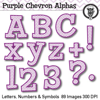 Purple Chevron Alpha Clip Art 89 Images By Z Is For Zebra Tpt