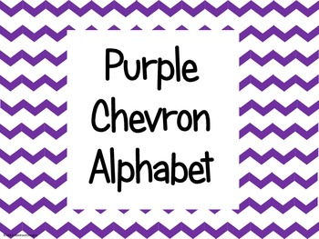 Purple Chevron Alphabet