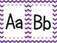 Purple Chevron Alphabet