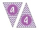 Purple Chevron Alphabet Banner Set (upper & lowercase, numbers 0-9)
