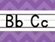 Purple Chevron Alphabet Line