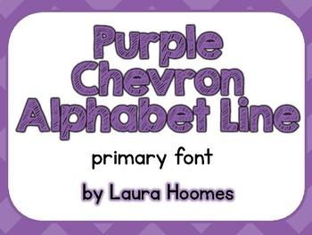 Purple Chevron Alphabet Line