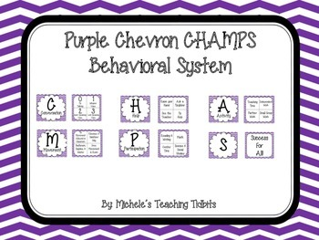 CHAMPS Behavioral System: Purple Chevron