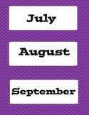 Purple Chevron Calendar Kit