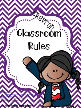 Purple Chevron Classroom Jobs