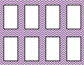 Purple Chevron Classroom Labels