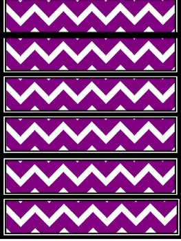 Purple Chevron Frames and borders