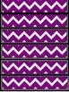 Purple Chevron Frames and borders