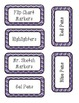 Purple Chevron Labels - Teacher Tool Box