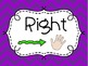Purple Chevron Left and Right Signs