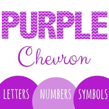 Purple Chevron Letters